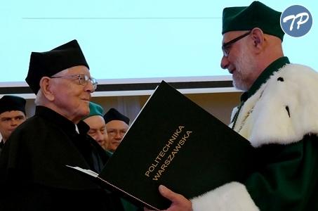 Profesor Mieczysław Mąkosza doktorem honoris causa  Politechniki Warszawskiej.